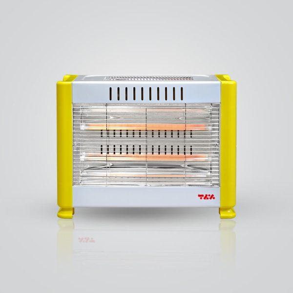 بخاری برقی مدل 1200 برفاب با مصرق بهینه و رنگ سفید زرد