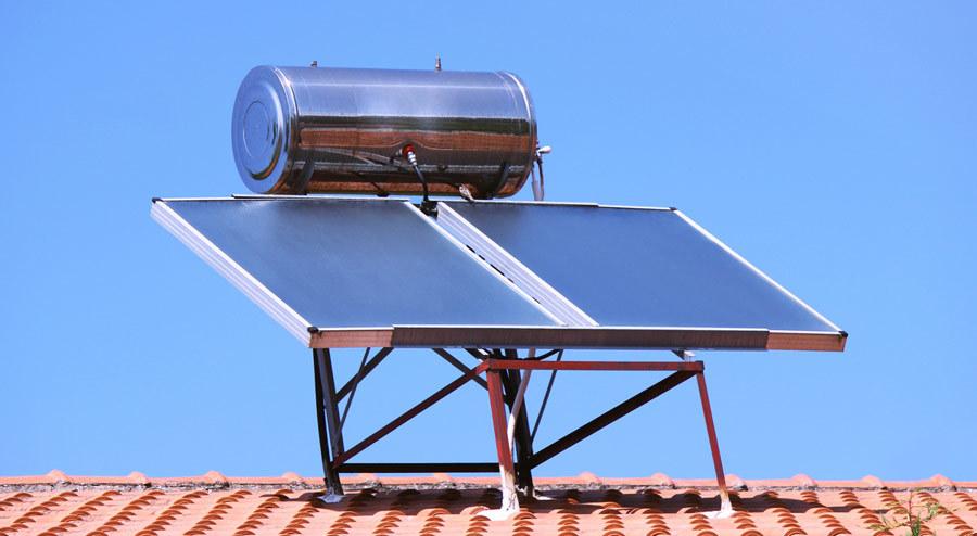 پنل خورشید برای گرم کردن آب
