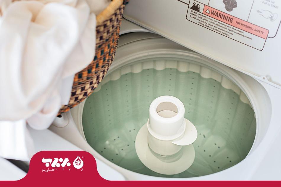 عدم تخلیه آب ماشین لباسشویی